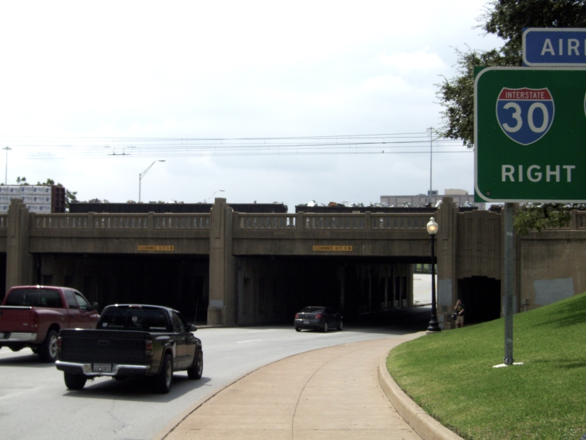 The underpass where the cars sped away.