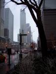 Snowy, misty Michigan Avenue