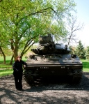 CFC and one of the many tanks in the Tank Park. (Kids love climbing on them.)