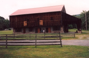 The barn (now the gift shop and a place for wedding receptions).  So strange.