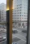 Non-sequitar picture - the view from our hotel window in Farragut Square