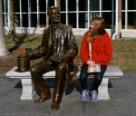 The kid talks it over with Abe