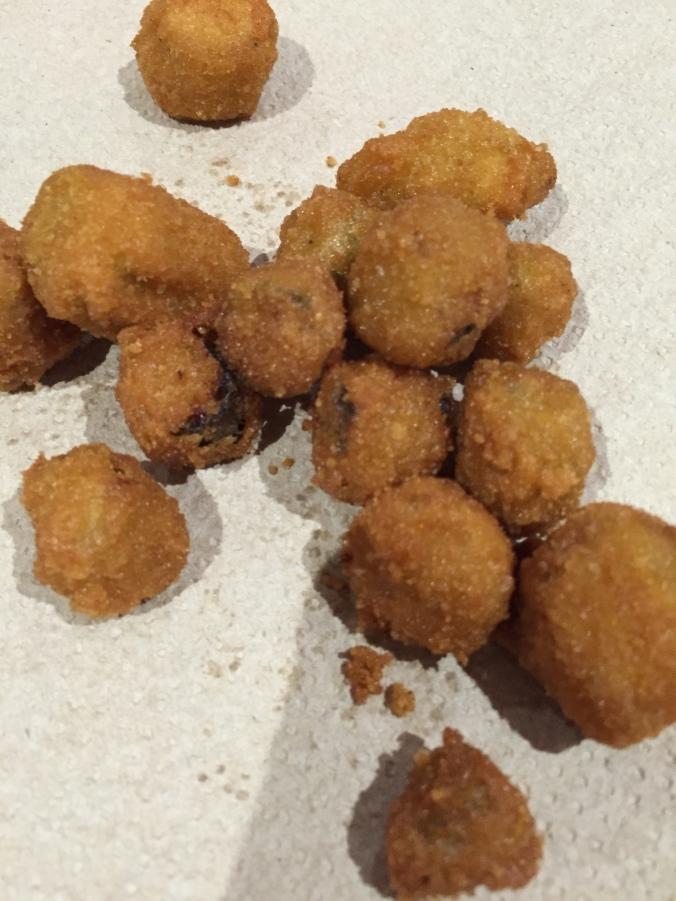 Fried okra - not my favorite