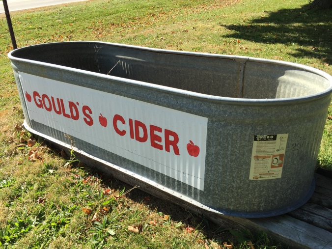 And go to my favorite apple orchard. I like cider ok, but I LOVE Gould's Cider, ever since we started going there about 20 years ago.